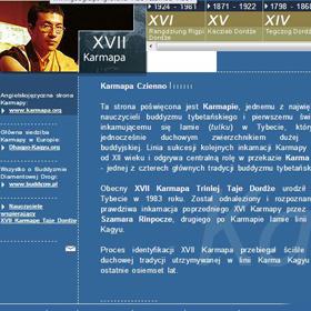 Strona poświęcona historii Karmapów