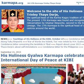Oficjalna strona J. Ś. 17-go Karmapy Trinlej Taje Dordże